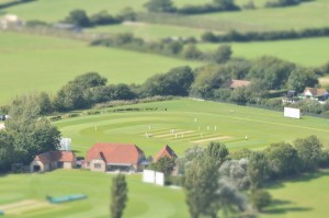 Sussex Cricket pitch Tiltshift